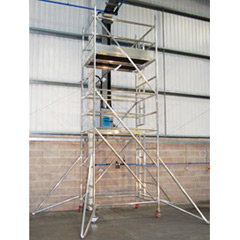 Alloy Tower (1.8m x 1.4m) c/w Ladder, 2.5mtrs